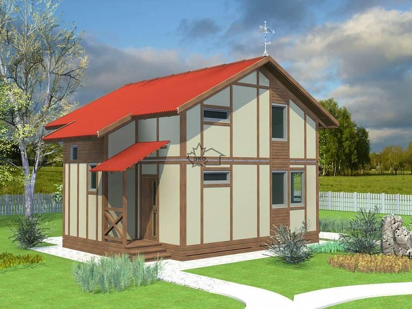 Проект дачного дома из СИП панелей
