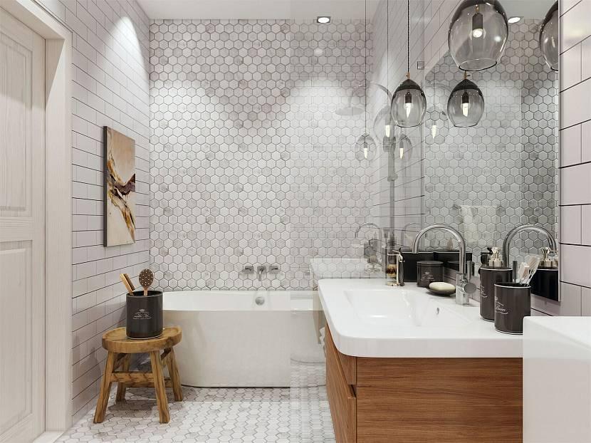 Плитка для ванной комнаты в скандинавском стиле