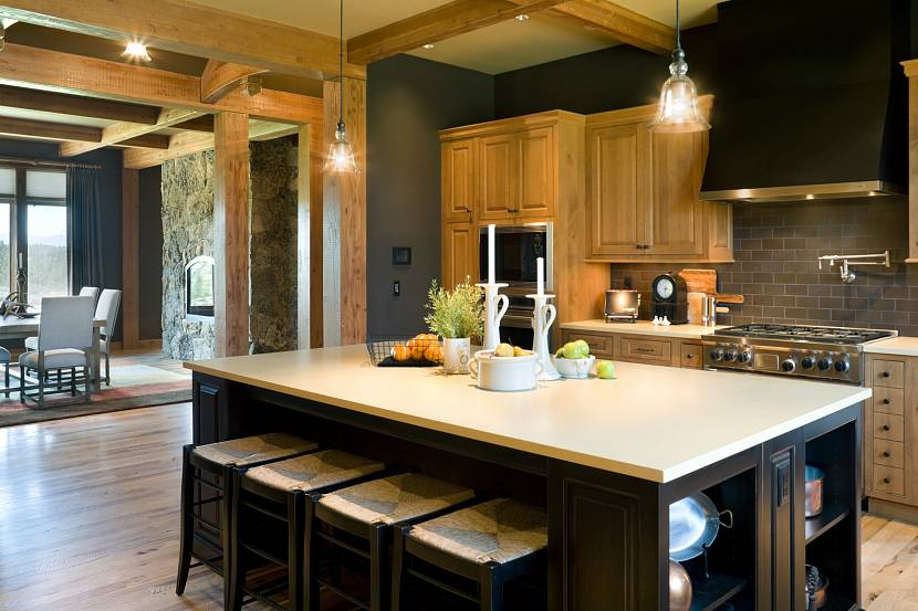 кухня цвета дуб