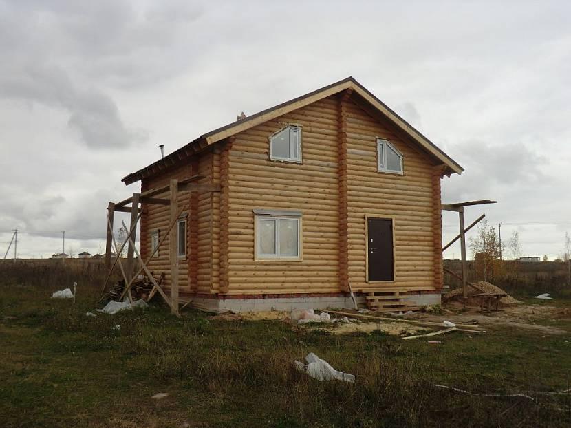 Дом из оцилиндрованного бревна за миллион