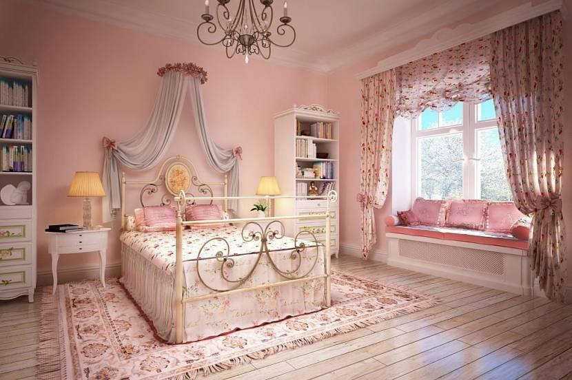 Девичья розовая комната