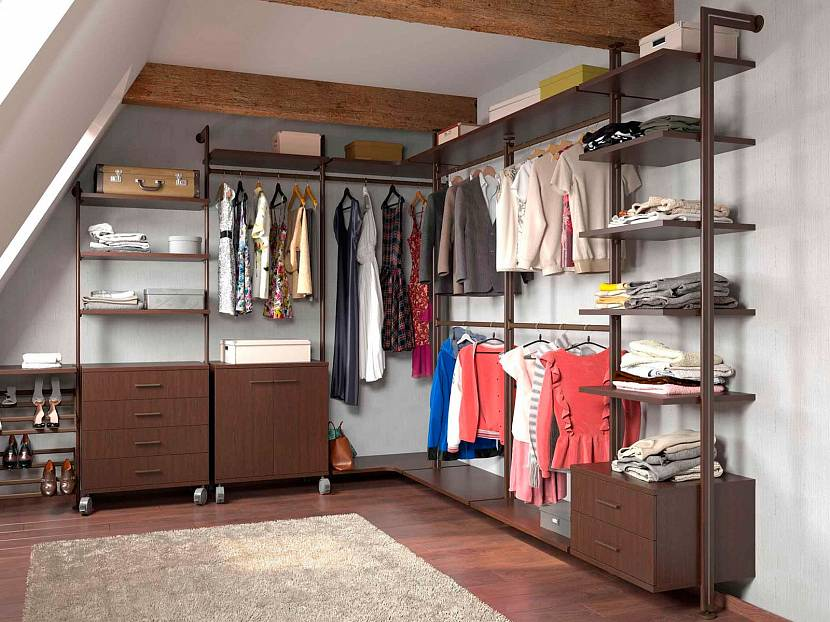 Каркасная система лофт для монтажа гардеробной открытого типа