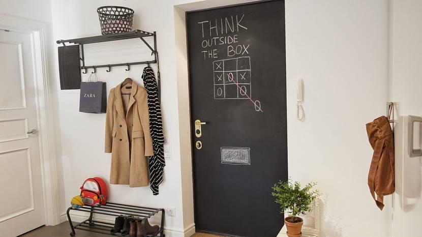 Входная дверь с меловым покрытием