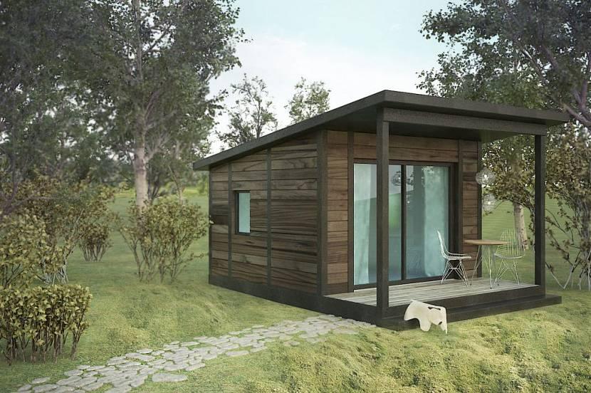 каркасный дом с односкатной крышей проекты