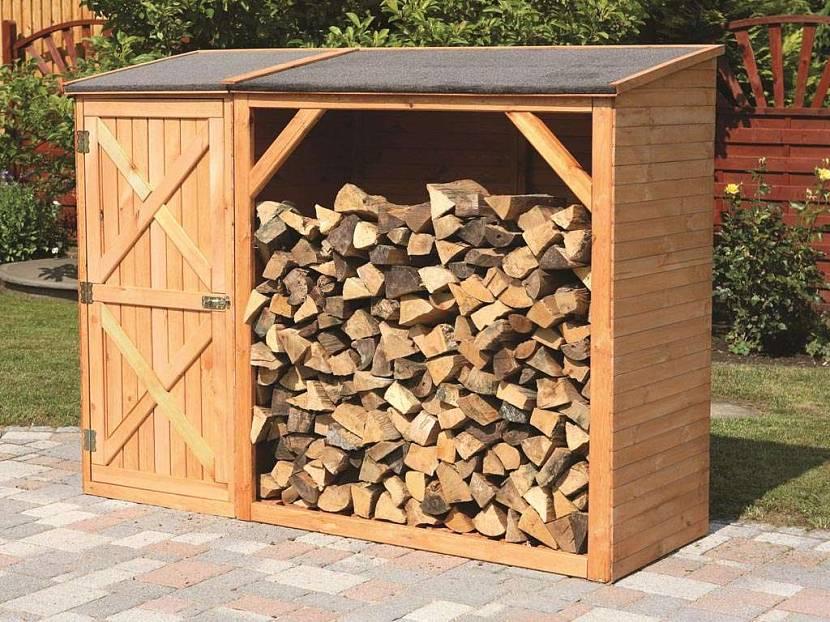 Закрытое хранение дров