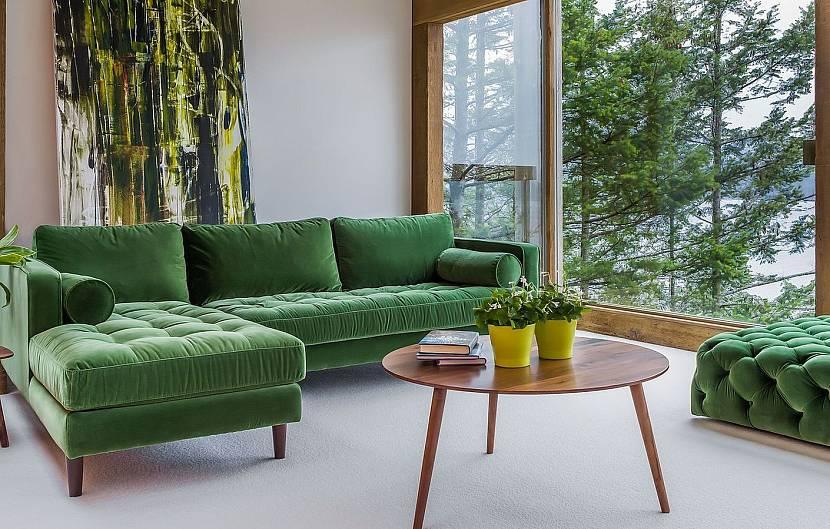 Интерьер с велюровой мебелью