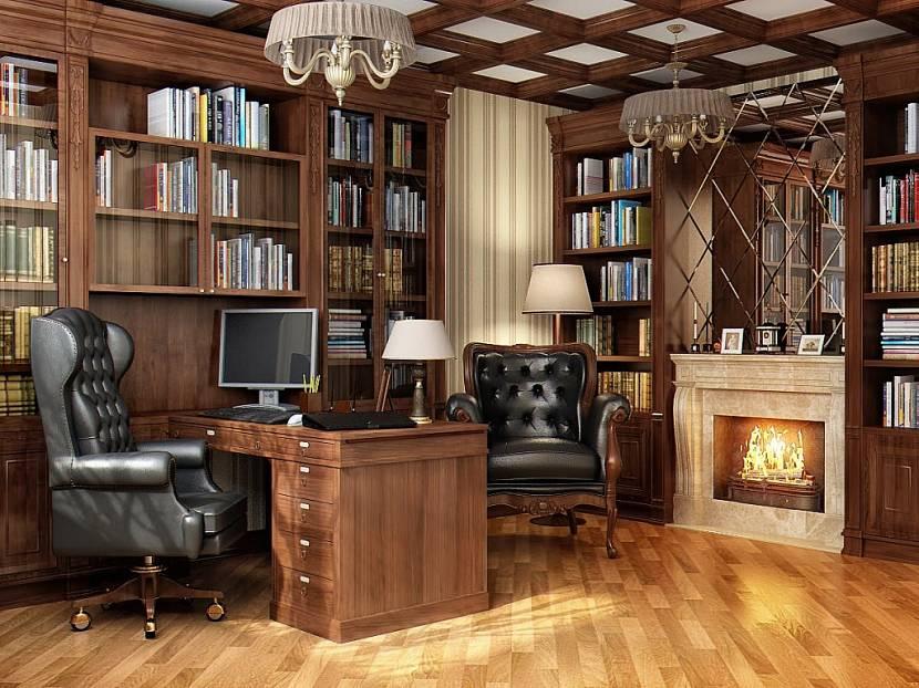 дом 5 на 6 с мансардой – рабочий кабинет