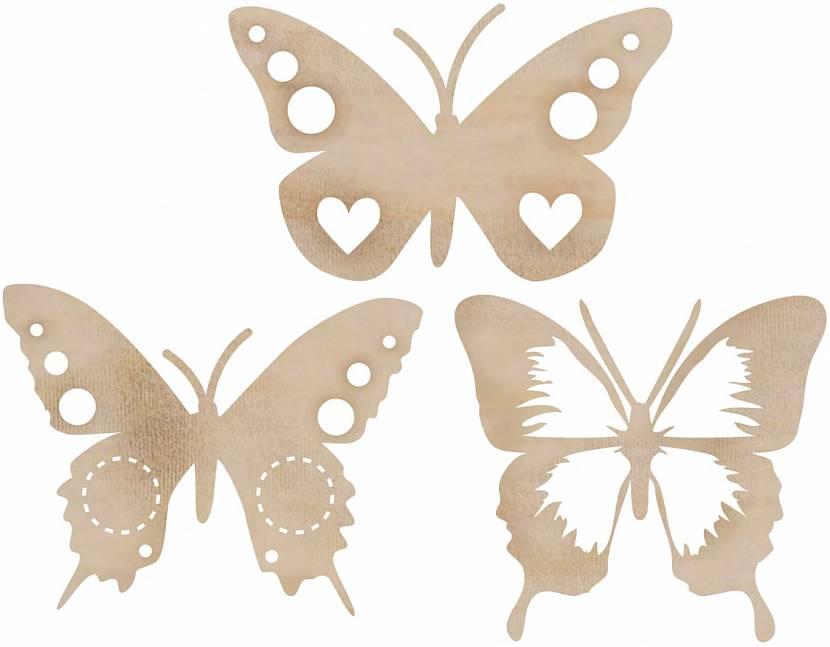 Трафарет для бабочек