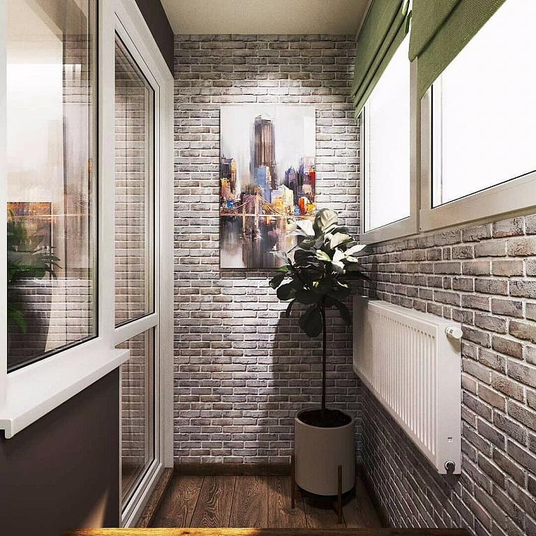 вид стиль лофт на балконе фото покрыт ярко-белыми соцветиями