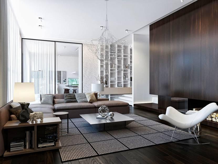 дизайн гостиной хай тек фото чтобы жили