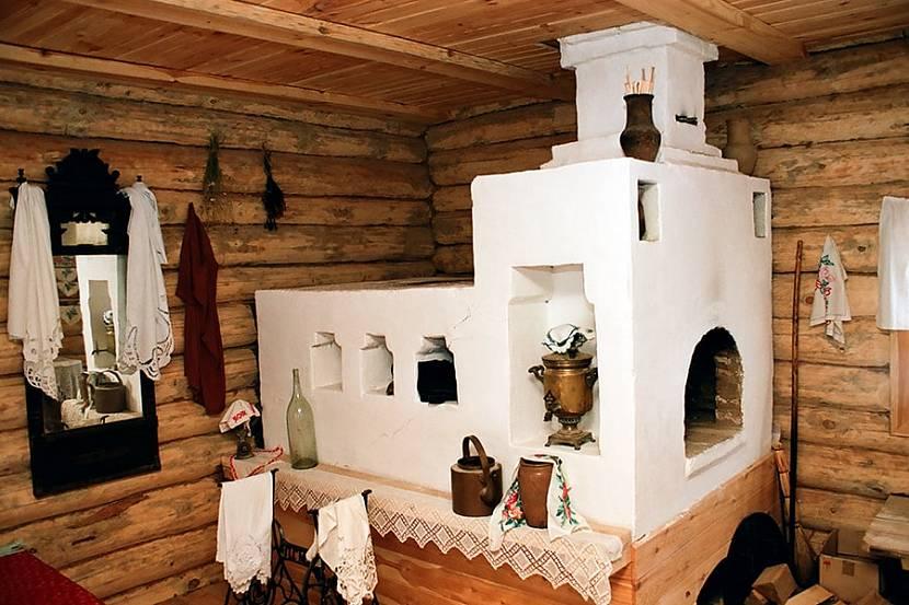 Русская печь с нишами