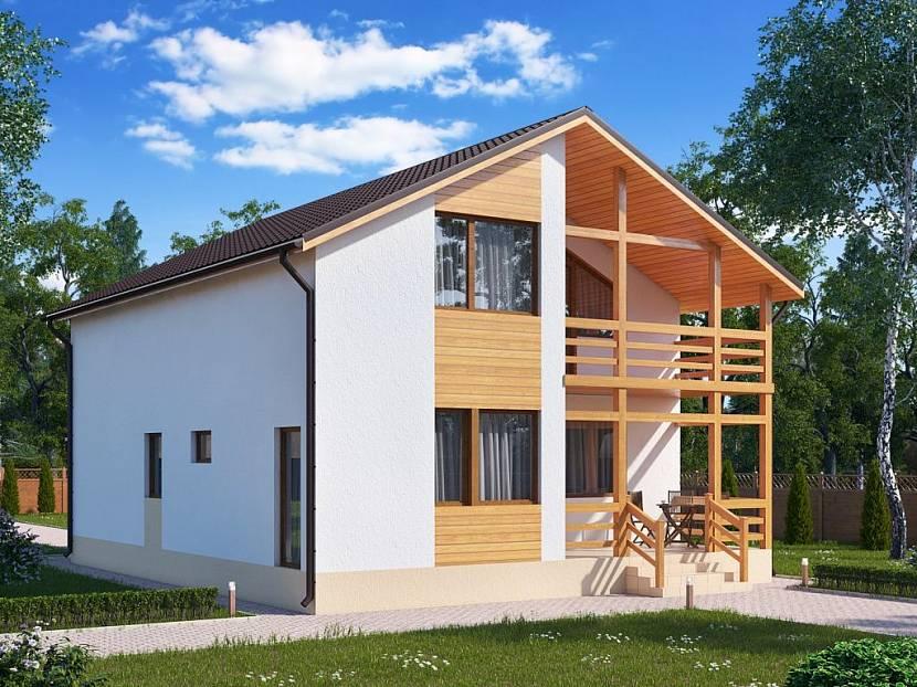 Дом из СИП панеделей с отделкой фасада