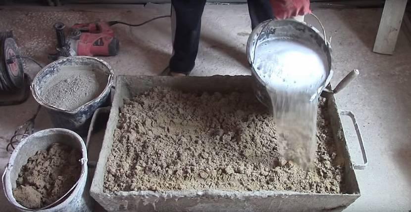 Приготовление кладочного раствора