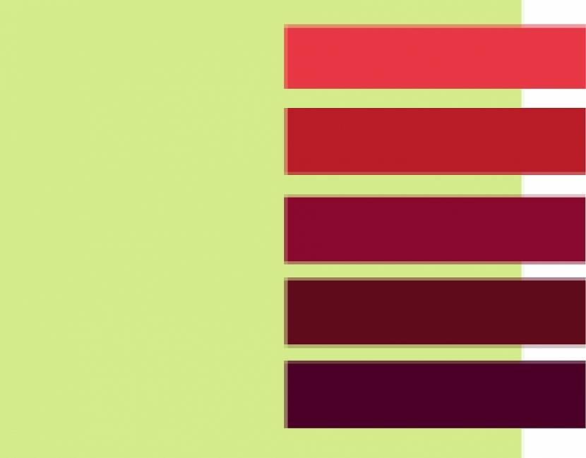 Фисташковый может стать хорошим фоном для красного