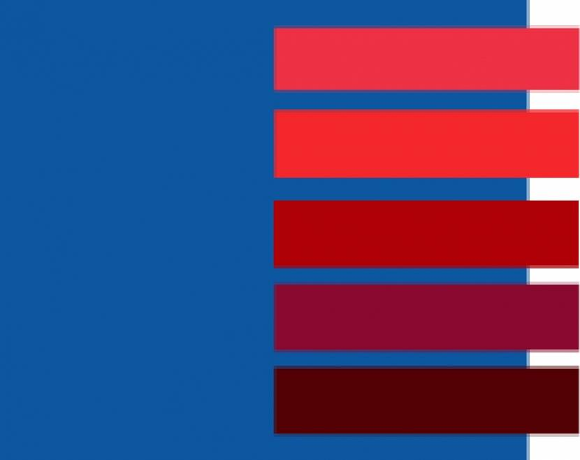 Палитра с синим цветом и подходящими оттенками