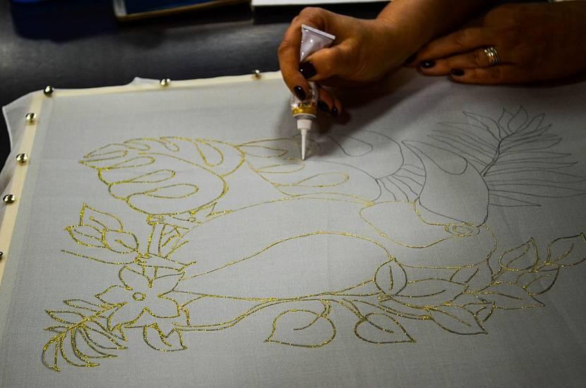 Контур для техники рисования акриловыми красками