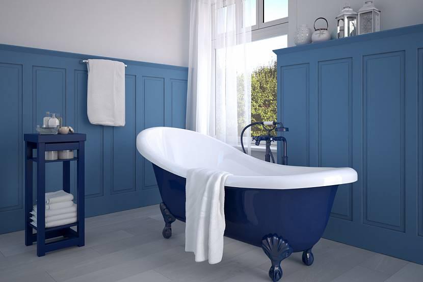 голубая ванная комната дизайн