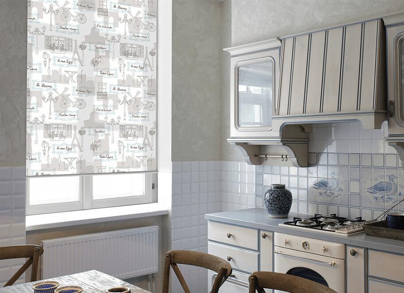 Ролл-шторы с принтом на кухню