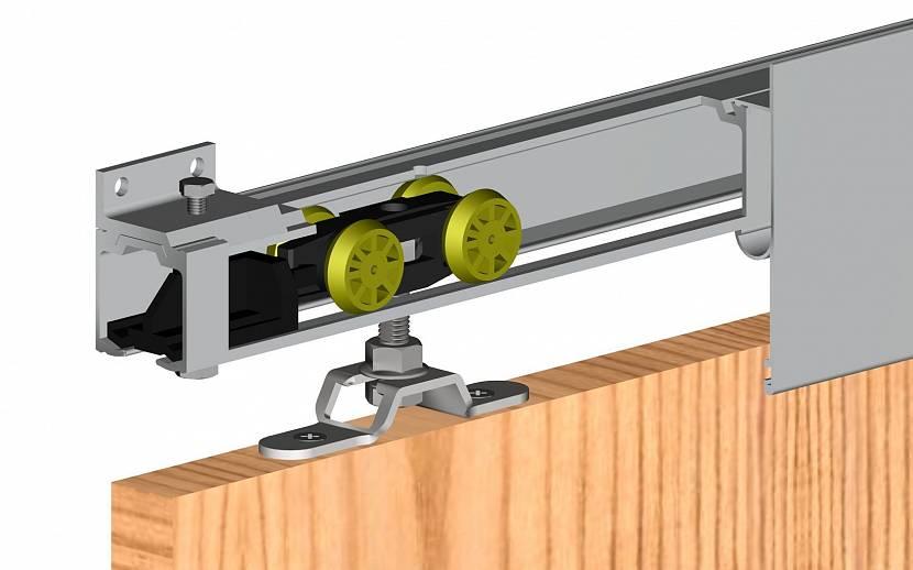 Направляющие и ролики для раздвижных дверей