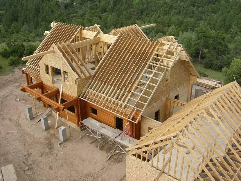 Укладывание крыши