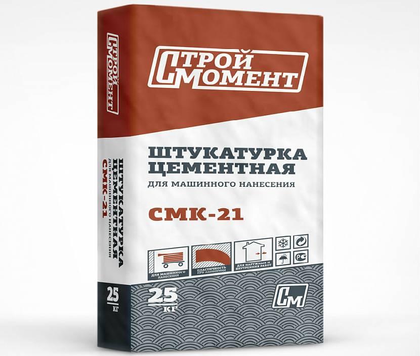 Цементная штукатурка СМК 21 – стандартный мешок 25 кг