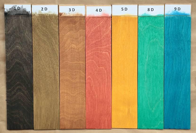 Яркие цвета фанерного пола
