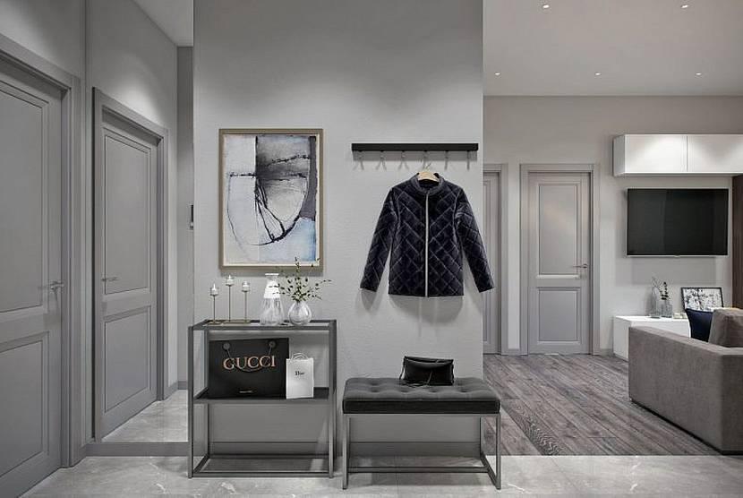 Нейтральный дизайн коридоре