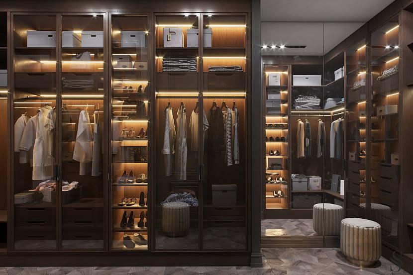 Освещение гардеробных