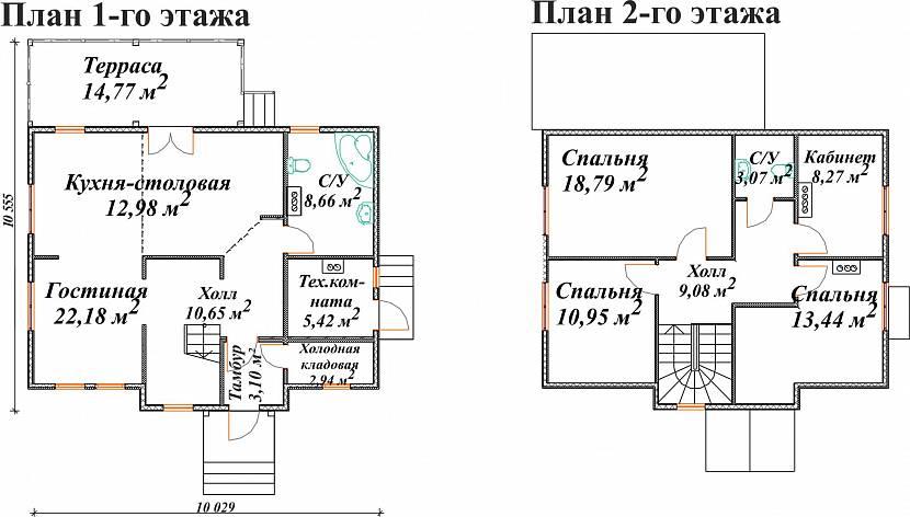 Планировка 2-этажного дома