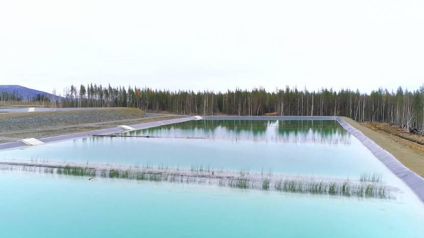 Очистка сточных вод в водоеме