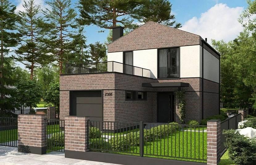 проекты узких двухэтажных домов с гаражом