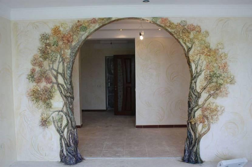 Как украсить арку в квартире фото