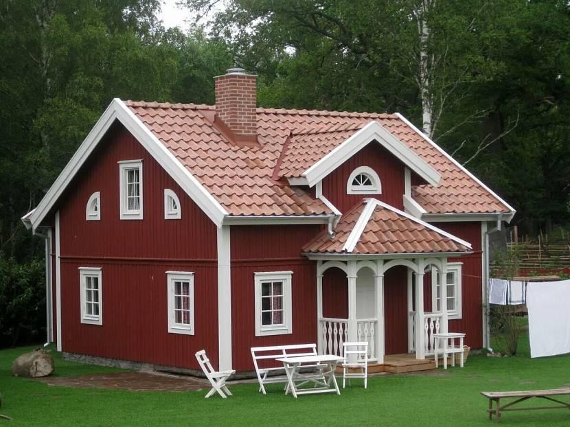 дом дачный фото цвет крыши и стен