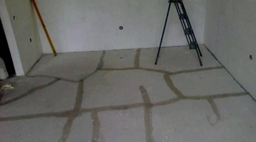 потрескавшийся бетон
