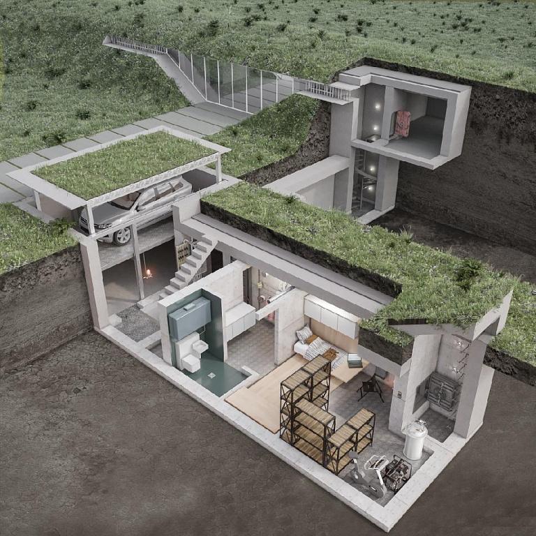 частный дом - подземный бункер