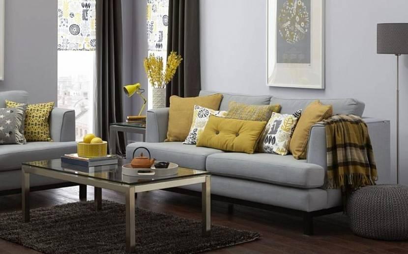 Декоративные подушки горчичного цвета