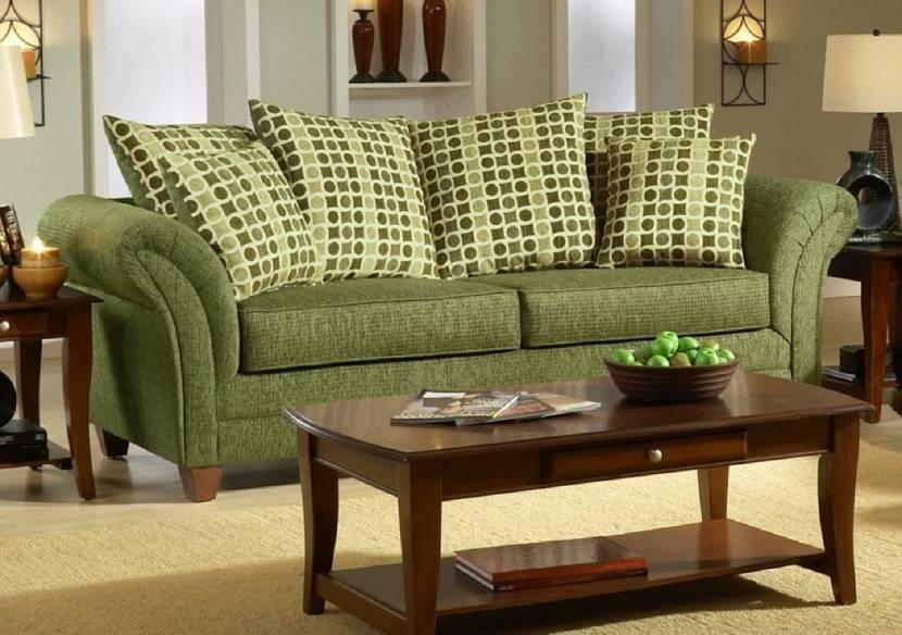 Зеленый цвет дивана