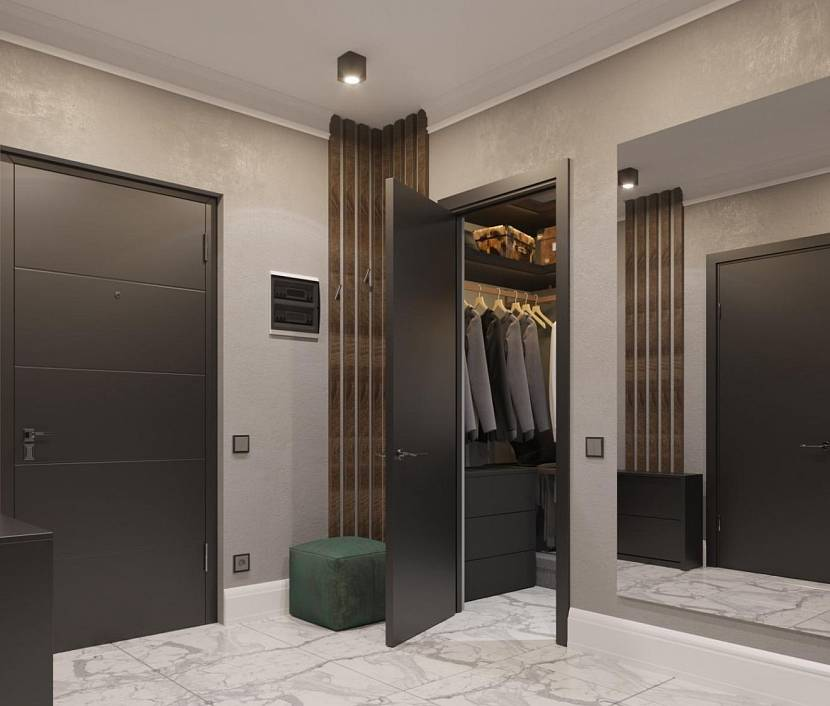 Серо-коричневый коридор