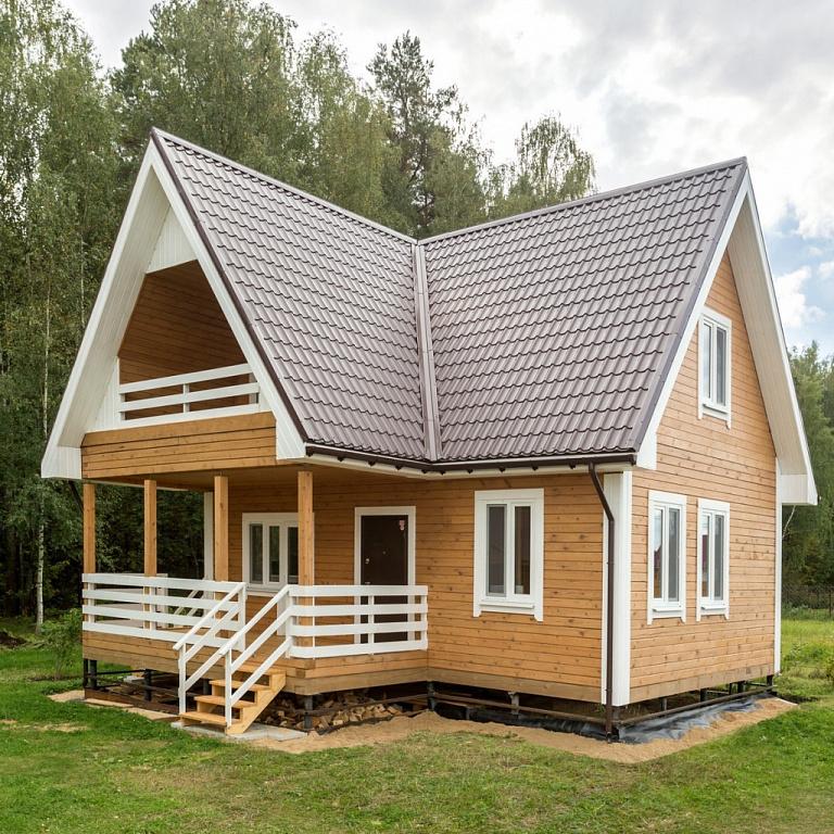 дома из профилированного бруса