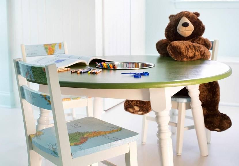 Декупаж детской мебели