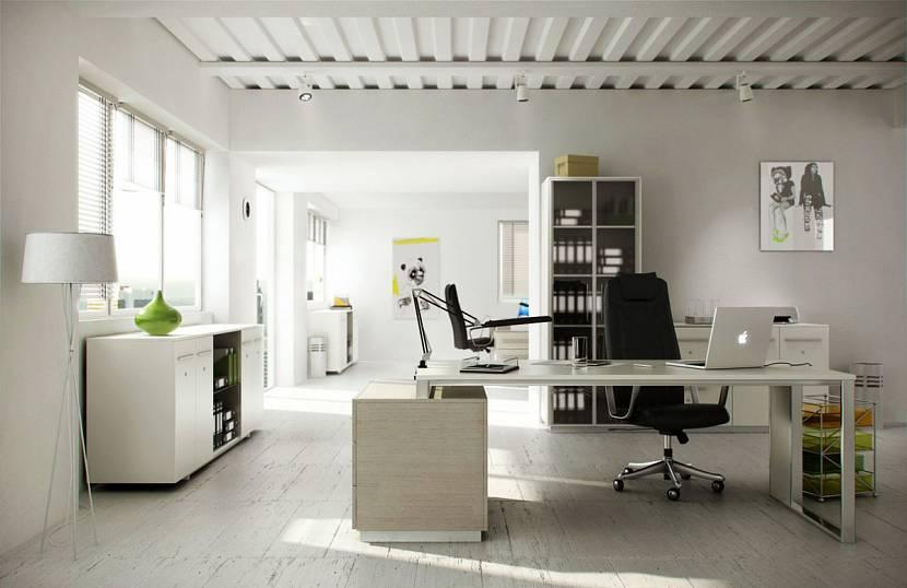 В помещении, оформленном в светлых красках, легче работать