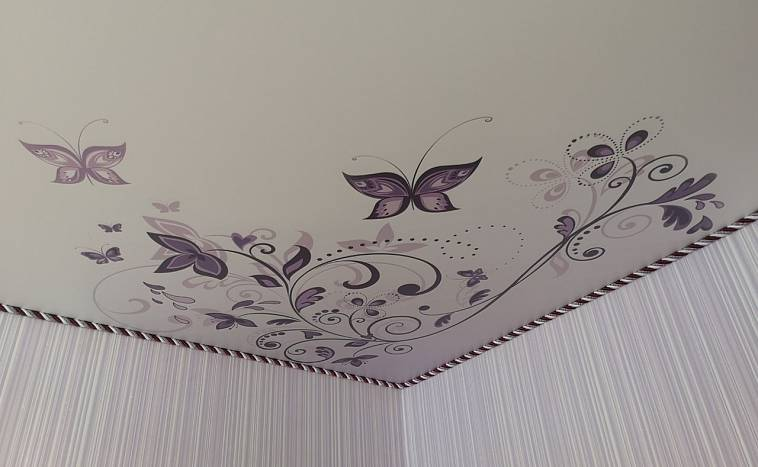 белые цветные отделка швов при натяжном потолке в картинках степлер одной