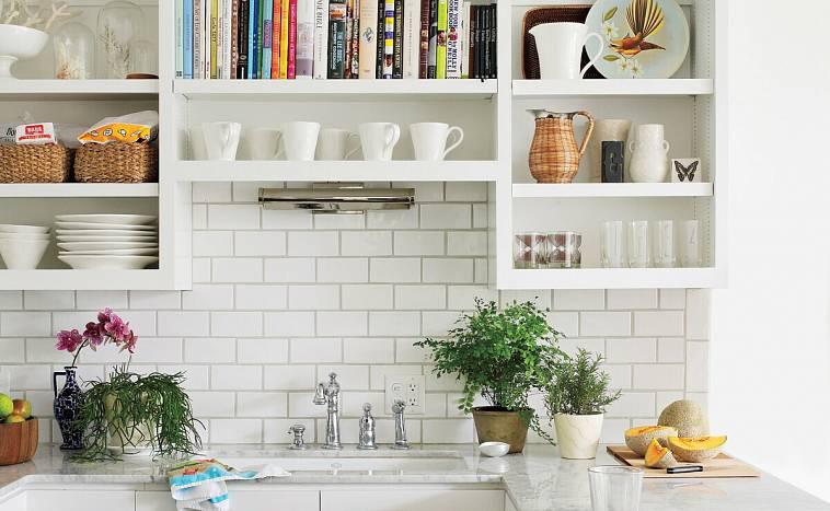полки из гипсокартона на кухне фото кухни могут