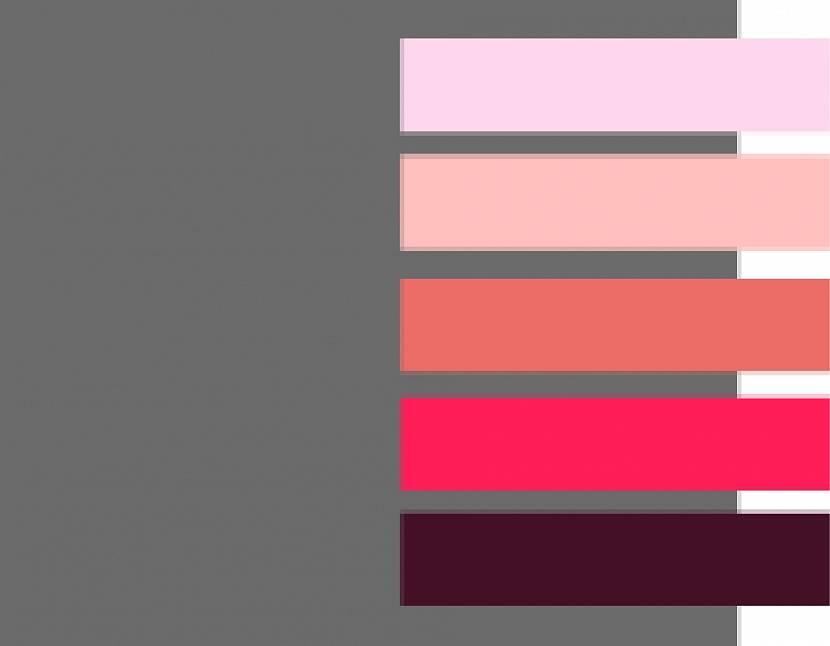 Серый фон с розовой палитрой