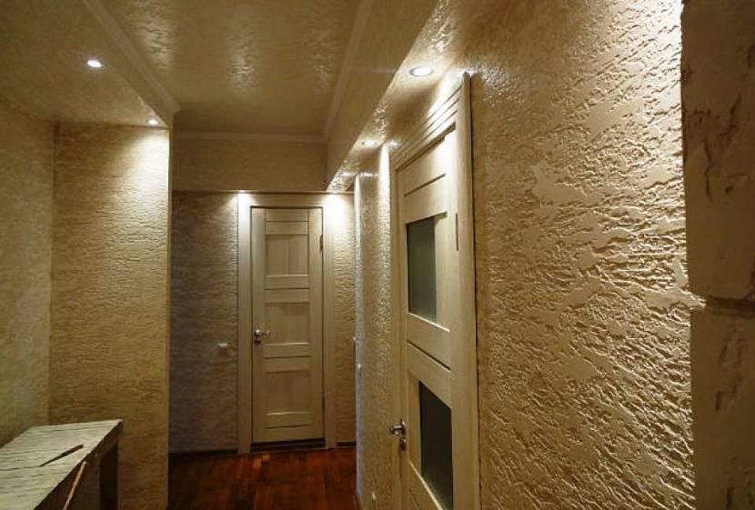 Штукатурка «шуба» в коридоре