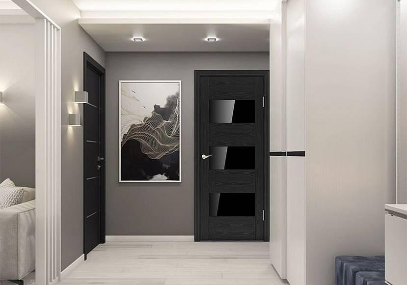Темные двери в пепельном дизайне