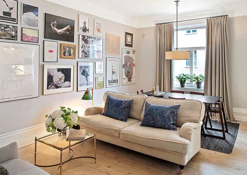 цвет дивана в скандинавском стиле