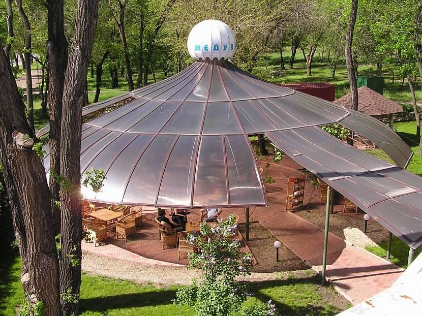 крыша на беседку из поликарбоната
