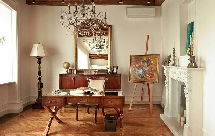Ретро стиль в интерьере светлой комнаты