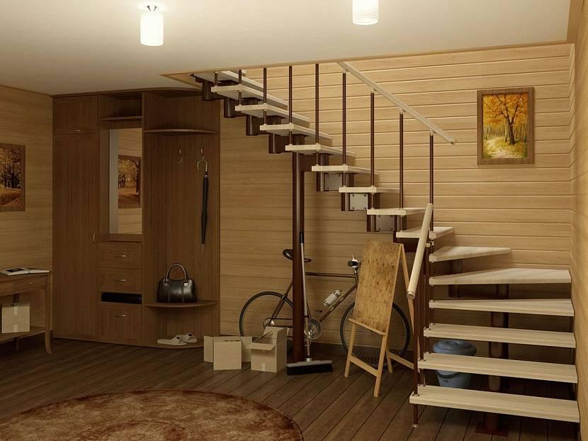 Поворотная нестандартная лестница